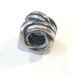 Pandora Sterling Silver Charm Braided clip